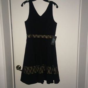 Black and lace Marciano dress - NEW - Large